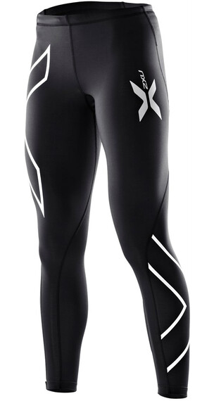 2XU W's Compression Tights Black/Black (Silver logo)
